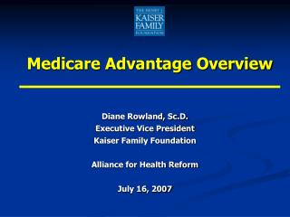 Medicare Advantage Overview