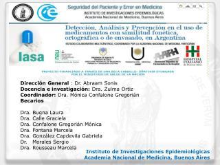 Instituto de Investigaciones Epidemiológicas Academia Nacional de Medicina, Buenos Aires
