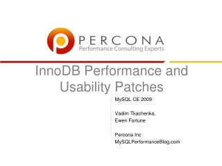InnoDB Performance and Usability Patches