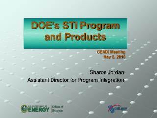 DOE's STI Program  and Products