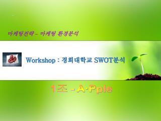 Workshop :  경희대학교  SWOT 분석