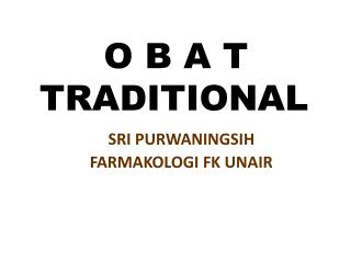 O B A T    TRADITIONAL