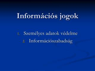 Információs jogok