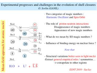 -  Two categories of magic numbers :  Harmonic Oscillator  and  Spin Orbit