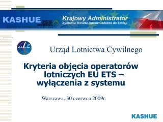 Kryteria objęcia operatorów lotniczych EU ETS – wyłączenia z systemu