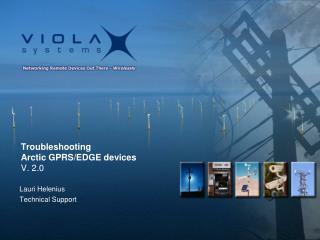 Troubleshooting Arctic GPRS/EDGE devices V. 2.0