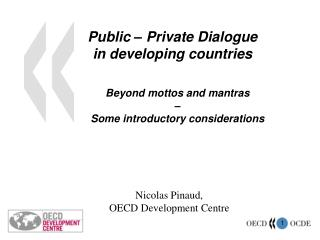 Public – Private Dialogue  in developing countries