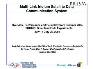 Multi-Link Iridium Satellite Data Communication System
