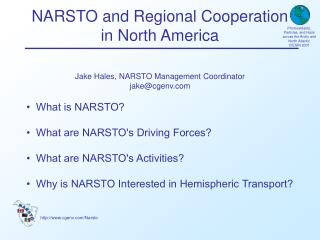 NARSTO and Regional Cooperation in North America