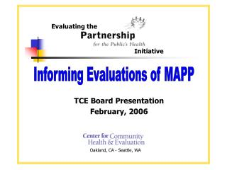 TCE Board Presentation February, 2006