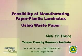 Feasibility of Manufacturing Paper-Plastic Laminates Using Waste Paper