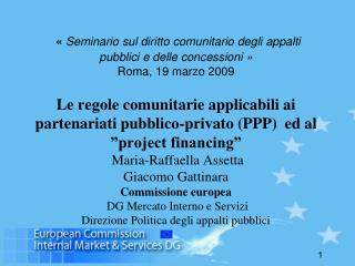 Orientamenti dellla Commissione europea in materia di PPP