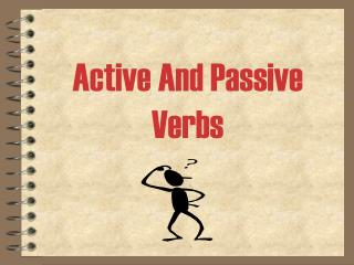 Active And Passive Verbs