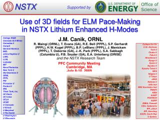 Use of 3D fields for ELM Pace-Making  in NSTX Lithium Enhanced H-Modes