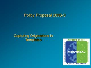 Policy Proposal 2006-3