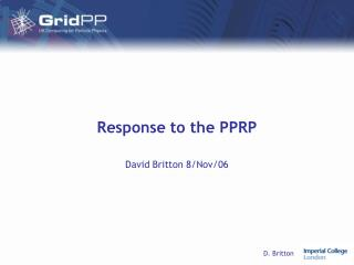 Response to the PPRP