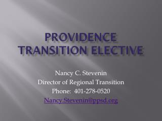 Providence Transition Elective