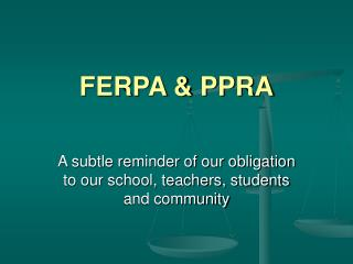 FERPA & PPRA