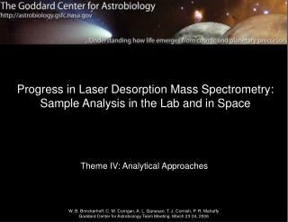 Progress in Laser Desorption Mass Spectrometry: Sample Analysis in the Lab and in Space