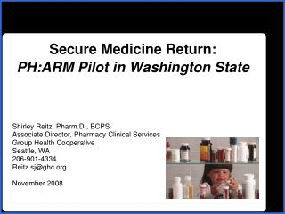 Secure Medicine Return: PH:ARM Pilot in Washington State