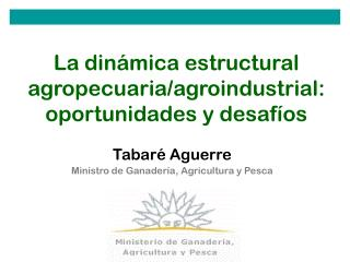 La dinámica estructural agropecuaria/agroindustrial: oportunidades y desafíos
