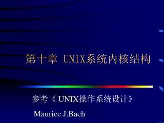 第十章  UNIX 系统内核结构