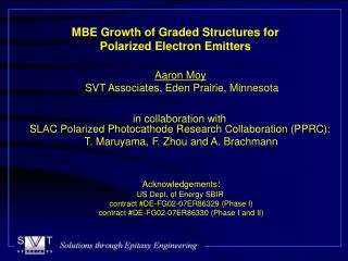 MBE Growth of Graded Structures for Polarized Electron Emitters