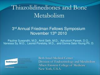 3 rd  Annual Friedman Fellows Symposium November 13 th  2010