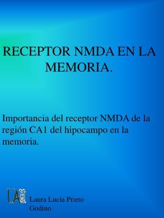 RECEPTOR NMDA EN LA MEMORIA.
