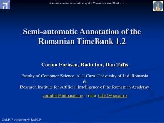 Semi-automatic Annotation of the Romanian TimeBank 1.2