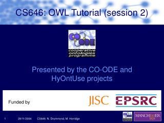 CS646: OWL Tutorial (session 2)