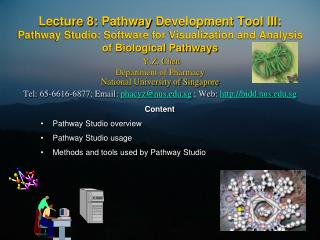 Lecture 8: Pathway Development Tool III:  Pathway Studio: Software for Visualization and Analysis  of Biological Pathway