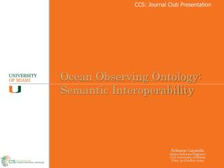 CCS: Journal Club Presentation