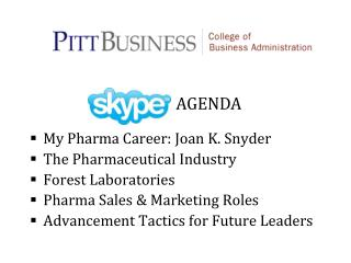 My Pharma Career: Joan K. Snyder The Pharmaceutical Industry Forest Laboratories