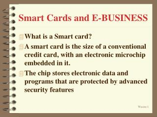 Smart Cards and E-BUSINESS