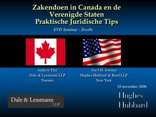 Zakendoen in Canada en de Verenigde Staten Praktische Juridische Tips