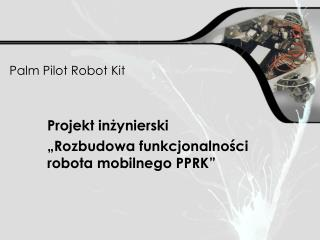 Palm Pilot Robot Kit