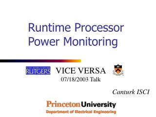 Runtime Processor Power Monitoring
