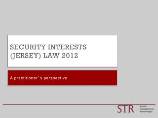 Security Interests (Jersey) Law 2012