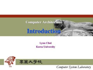 Computer Architecture Introduction