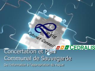 Concertation et Plan Communal de Sauvegarde