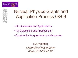 Nuclear Physics Grants and Application Process 08/09