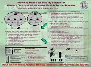 Providing Multi-layer Security Support for Wireless Communications across Multiple Trusted Domains