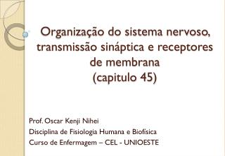 Organização do sistema nervoso, transmissão sináptica e receptores de membrana (capitulo 45)