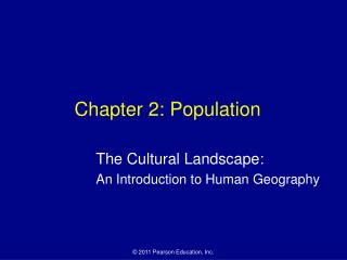 Chapter 2: Population