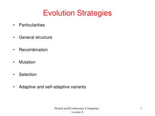 Evolution Strategies
