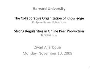 Ziyad Aljarboua Monday, November 10, 2008