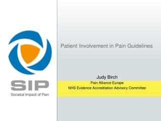 Patient Involvement in Pain Guidelines