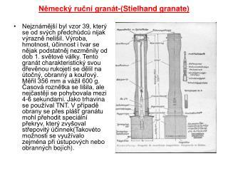 Německý ruční granát-(Stielhand granate)