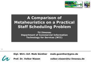 A Comparison of Metaheuristics on a Practical Staff Scheduling Problem
